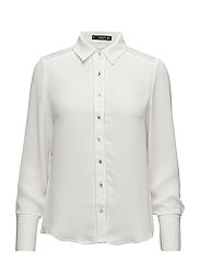 Openwork detail blouse - NATURAL WHITE