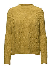 Cable-knit sweater - BRIGHT YELLOW