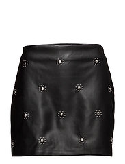 Metallic detail skirt - BLACK