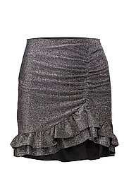 Ruffle metallic skirt - SILVER