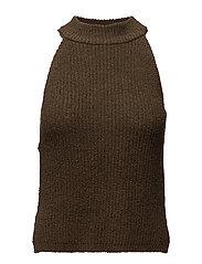 Halter cotton top - BEIGE - KHAKI