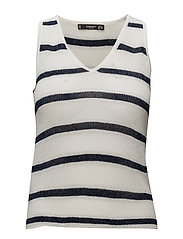 Metallic striped top - NAVY