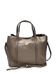 Pebbled cross-body bag - SILVER