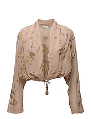 Embroidered flowy jacket - LT-PASTEL PINK