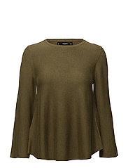 Flared sleeves sweater - DARK GREEN