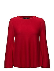 Flared sleeves sweater - RED