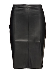 Opening pencil skirt - BLACK