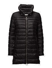 Water-repellent feather coat - BLACK