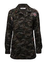 Military-style beads jacket - BEIGE - KHAKI