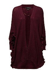 Ruffle sleeve cardigan - MEDIUM PURPLE