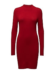 Jersey bodycon dress - RED