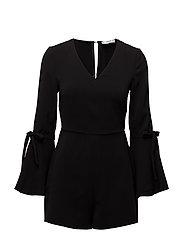 Flared sleeves jumpsuit - BLACK