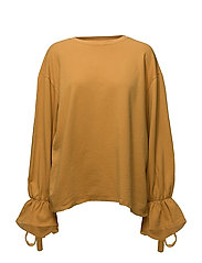 Bow cotton sweater - MEDIUM YELLOW