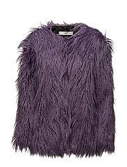 Faux fur coat - MEDIUM PURPLE