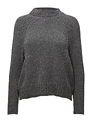Metallic finish sweater - GREY