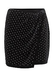 Rhinestone velvet skirt - SILVER