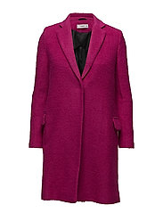 Structured wool coat - BRIGHT PINK