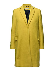 Structured wool coat - YELLOW