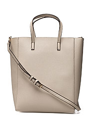 Saffiano-effect shopper bag - GREY