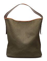 Leather strap bag - BEIGE - KHAKI