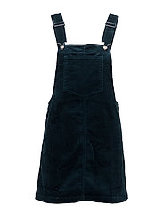Corduroy pinafore dress - DARK BLUE