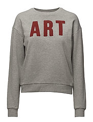 Message cotton sweatshirt - LT PASTEL GREY