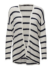 Striped cardigan - NAVY