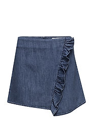 Ruffle denim skirt - OPEN BLUE