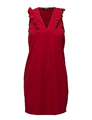 Ruffled dress - RED