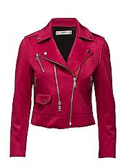 Zipped biker jacket - BRIGHT PINK