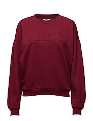 Glitter message sweatshirt - DARK RED