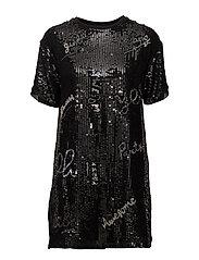 Sequined dress - BLACK