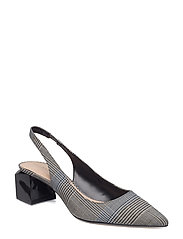 Slingback check shoes - BLACK