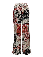Flower print trousers - RED