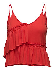 Ruffled top - RED