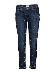 Pearls straight jeans - OPEN BLUE