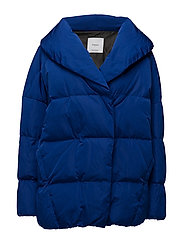 Quilted feather coat - BRIGHT BLUE