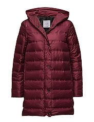 Quilted down anorak - DARK RED