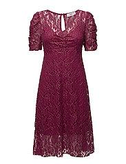 Metallic lace dress - PINK
