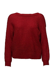 Knot detail sweater - RED