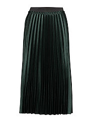 Metallic pleated skirt - DARK GREEN
