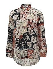 Floral print shirt - RED