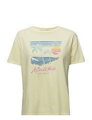 Printed cotton t-shirt - YELLOW
