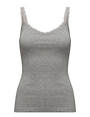 Lace strap t-shirt - LT PASTEL GREY