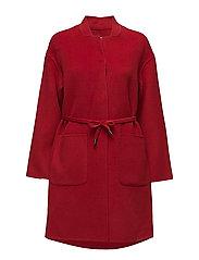 Belt handmade coat - RED