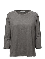 Essential cotton-blend t-shirt - MEDIUM GREY