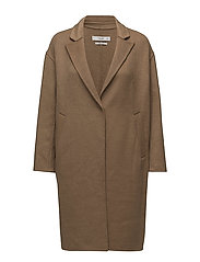 Wool handmade coat - MEDIUM BROWN