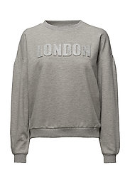 Glitter message sweatshirt - MEDIUM GREY