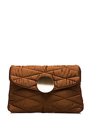 Quilted clutch - MEDIUM BROWN