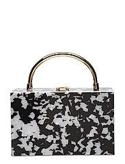 Bicolor box bag - BLACK